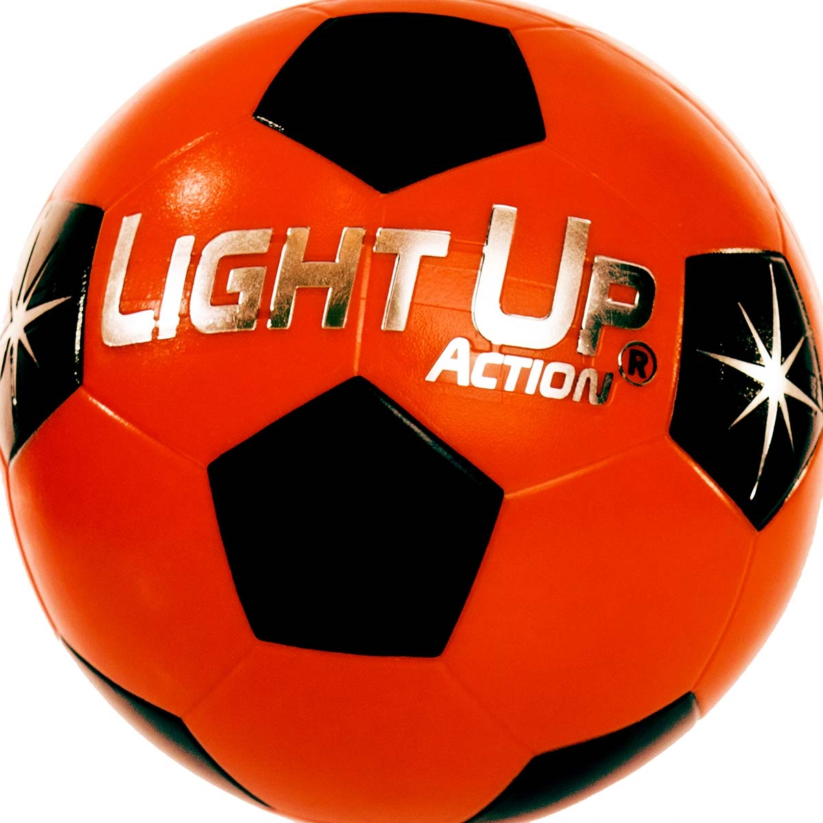 light up action soccer ball silver edition