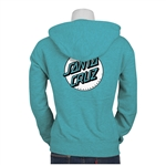 Santa Cruz Sweatshirt Zip up Missing Dot