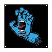 Screaming Hand  Banner 36 inch by 36 inch Black