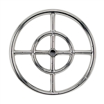 "12"" Double- Ring  Stainless Steel Burner With 1/2"" Inlet"