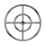 "18"" Double- Ring  Stainless Steel Burner With 1/2"" Inlet"