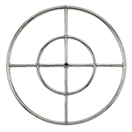 "24"" Double- Ring  Stainless Steel Burner With 1/2"" Inlet"