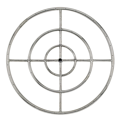 "30"" Triple- Ring  Stainless Steel Burner With 3/4"" Inlet"