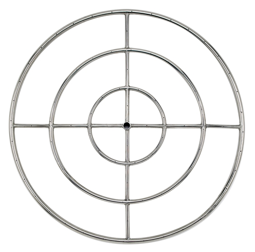 "36"" Triple- Ring  Stainless Steel Burner With 3/4"" Inlet"