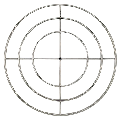 "48"" Triple- Ring  Stainless Steel Burner With 3/4"" Inlet"