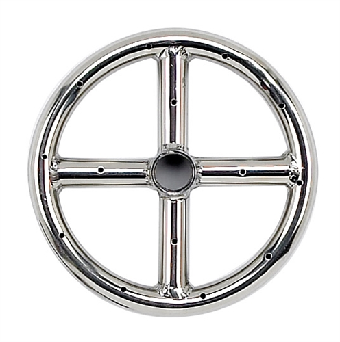 "6"" Single-Ring Stainless Steel Burner With 1/2"" Inlet"
