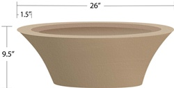 "26"" Granada Fire Bowl Mold"