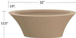 "32"" Granada Fire Bowl Mold"