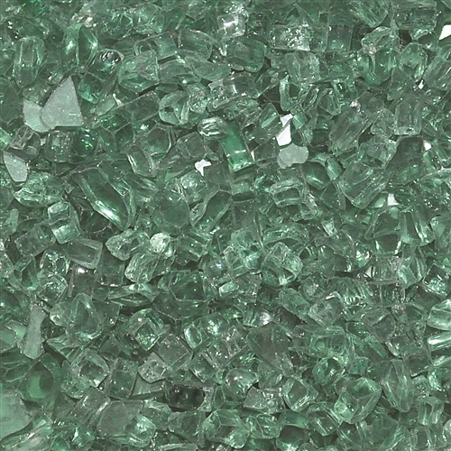 "1/4"" Fire Glass Evergreen 10 lbs"