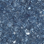 "1/4"" Fire Glass Pacific Blue 10 lbs"