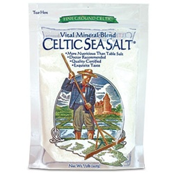 Selina Naturally - Celtic Sea Salt - Fine Ground (8 oz.) bag