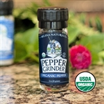 Selina Naturally -Organic Pepper Grinder 2 oz.