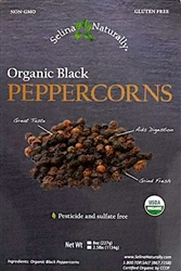 Selina Naturally - Organic Pepper Corns (2.5 lb.) Bag