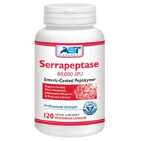 AST Enzymes Serrapeptase (Enteric-Coated Peptizyme) 120 Caps
