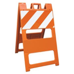 "Plasticade Barricade Type I Orange - 12"" x 24"" Top Panel High Intensity Prismatic Sheeting"