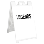 "Signicade Sign Stand White - 24"" x 36"" Diamond Grade Sign Legends"