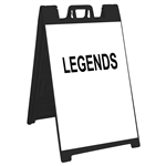 "Signicade Sign Stand Black - 24"" X 36"" High Intensity Prismatic Grade Sign Legends"