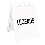 "Squarecade 36 Sign Stand White - 24"" x 24"" Engineer Grade Sign Legends"