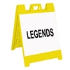 "Squarecade 36 Sign Stand Yellow - 24"" x 24"" Diamond Grade Sign Legends"