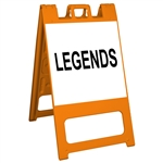 "Squarecade 45 Sign Stand Orange - 24"" x 24"" Diamond Grade Sign Legend"