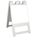 Squarecade 45 Sign Stand White - NO SHEETING
