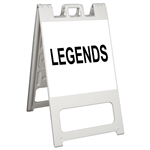 "Squarecade 45 Sign Stand White - 24"" x 24"" Diamond Grade Sign Legend"