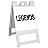 "Squarecade 45 Sign Stand White - 24"" x 24"" Engineer Grade Sign Legend"