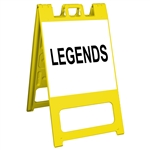"Squarecade 45 Sign Stand Yellow - 24"" x 24"" Engineer Grade Sign Legend"