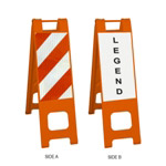 "Narrowcade Orange - 12"" x 24"" Diamond Grade Striped Sheeting (side A)