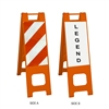 "Narrowcade Orange - 12"""" x 24 Engineer Grade Striped Sheeting (side A)