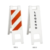 "Narrowcade White - 12"" x 24"" High Intensity Prismatic Striped Sheeting (side A)