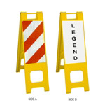 "Narrowcade Yellow - 12"" x 24"" Diamond Grade Striped Sheeting (side A)