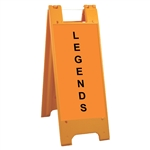 "Minicade Orange - 12"" x 24"" High Intensity Prismatic Grade Legends"