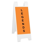 "Minicade White - 12"" x 24"" High Intensity Prismatic Grade Legends"