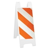 "Minicade White - 12"" x 24"" High Intensity Prismatic Striped Sheeting (side A) 12"" x 24"" High Intensity Prismatic Sign Legend (side B)"