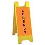 "Minicade Yellow - 12"" x 24"" High Intensity Prismatic Grade Legends"