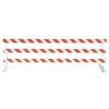 Break-Away Type III - 10' Break-Away  Kit with High Intensity Prismatic Grade Striped Sheeting (Both Sides)