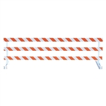 Break-Away Type III - 12' Break-Away  Kit with High Intensity Prismatic Grade Striped Sheeting (One Side)