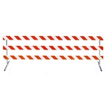 "12' Type III-Telespar Feet & 63"" Uprights with Engineer Grade Striped Sheeting - One Side"