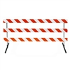 "8' Type III-Angle Iron Feet & Telespar  63"" Uprights with Diamond Grade Striped