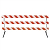 "10' Type III-Angle Iron Feet & Telespar  63"" Uprights with Diamond Grade Striped Sheeting - One Side"