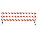 "12' Type III-Angle Iron Feet & Telespar  63"" Uprights with Diamond Grade Striped