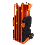 Portable Safety Zone Retractable Orange Fencing 100' ft. IRONguard PSZ-SLM