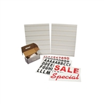 "White Message Board Kit 22""Wx28""H"