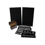 "Black Message Board Kit 24""Wx36""H"