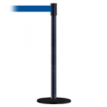 Slimline Post Basics Black Base/Black Wrinkle Tube/Black Wrinkle Head Standard 7.5' No Custom Blue Webbing Standard Belt End