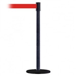 Slimline Post Basics Black Base/Black Wrinkle Tube/Black Wrinkle Head Standard 7.5' No Custom Red Webbing Standard Belt End