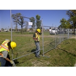 Temporary Construction Fence Panels, Galvanized Steel (6 X 8' ft.) Heavy Duty