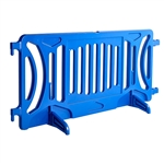 Plastic Crowd Control Fillable Barricade OTW Blue