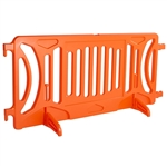 Plastic Crowd Control Fillable Barricade OTW Orange